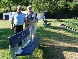 Stadtbürgermeister Martin Müller und ASF-Vorsitzende Erika Brand