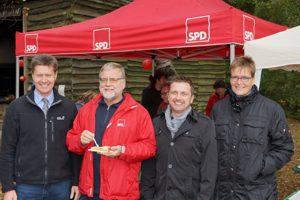 Harald Westrich, Gustav Herzog, Christian Brand und Martina Stein